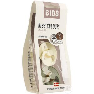Infinity Pharma Bibs Colour Collection Sucettes +18 Mois Taille 3 Sage Ivory 2 Pièces