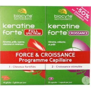 Biocyte Duo Pack Force Et Accroissement Keratine Forte Full Spectrum + Keratine Forte Accroissement