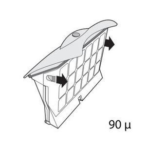 Cassette de filtration pour robot d2 / d8 top access jaune 90 microns