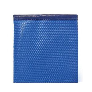 Bâche à bulles 500µ bordée 2 côtés bleu 8 x 4