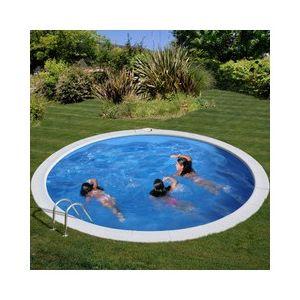 Kit piscine enterrée sumatra acier ronde Ø350 x h120 cm