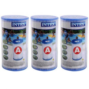 Cartouche de filtration intex type a - lot de 3