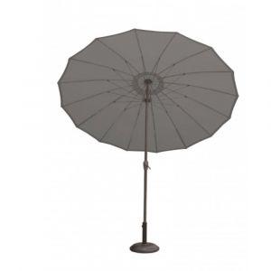 Parasol rond à mât droit shanghai anthracite Ø 270