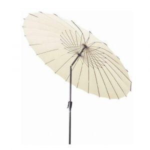 Parasol rond à mât droit shanghai Écru Ø 270