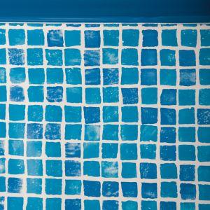 Liner mosaïque 50/100 - piscine hors sol gré ovale 500 x 350 x h.132 cm