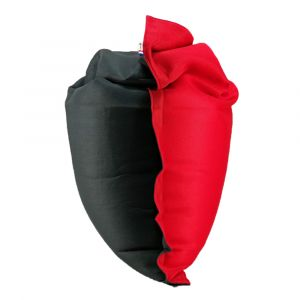 Pouf xxl 125 x 175 - anthracite/rouge