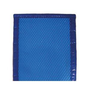Bâche à bulles 500µ bordée 4 côtés bleu 8 x 4