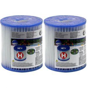 Cartouche de filtration intex type h - lot de 2