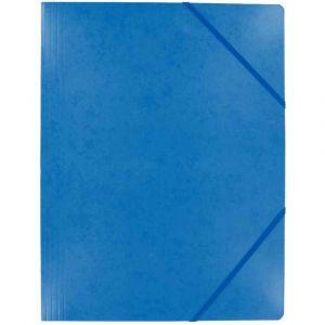 Chemise carte lustree elastique 5/10 24x32 bleu