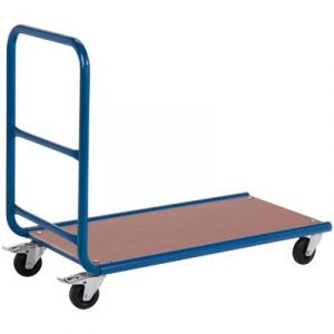 Chariot plateforme 250kg dossier tubulaire