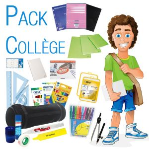 Pack fournitures collège