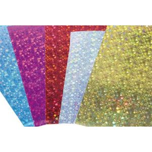 Carte holographique 35x50cm - Pochette de 10 feuilles