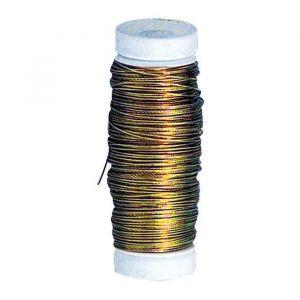 Fil laiton diametre 0,4mm - bobine 40m