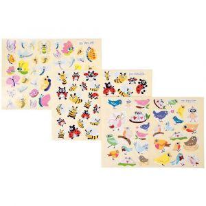 Gommettes illustrées les petites bêtes - Pochette de 864