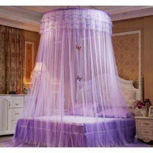 Ciel De Lit Moustiquaire Ciel De Lit Princesse Moustiquaire Dôme Avec Décor Papillon Pour Chambre Bébé Ou Enfant Violet - Neuf