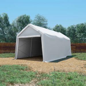 Tente De Rangement Pvc 550 G/M² 3 X 6 M Blanc - Neuf