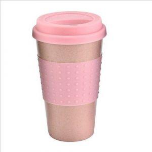 Tasse De Café En Silicone Écologique Tasse De Paille De Blé Tasse De Boisson Extérieure Tasse De Voyage Tasses Et Tasses Tasse De Thé Tasse De Noël Pink - Neuf