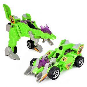 Enfants Jouet Drôle 20cm Bricolage Double Forme Électrique Dinosaure Modèle Ou Chariot Enfants Lumière Et Son Super Musique Jouets Pour Les Enfants Green - Neuf