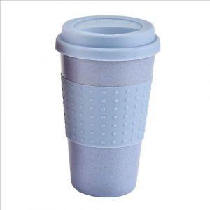 Tasse De Café En Silicone Écologique Tasse De Paille De Blé Tasse De Boisson Extérieure Tasse De Voyage Tasses Et Tasses Tasse De Thé Tasse De Noël Blue - Neuf