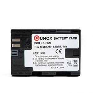 Batterie LP-E6N LP-E6 1865mAh pour Canon EOS 7D 70D 80D 6D 5D / 5DM2 / 5DM3 / 5DS / 5DSR - Neuf