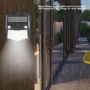 Applique murale solaire à 160led avec détecteur de mouvement PIR, étanche et automatique, luminaire d'extérieur, idéal pour un jardin - Neuf