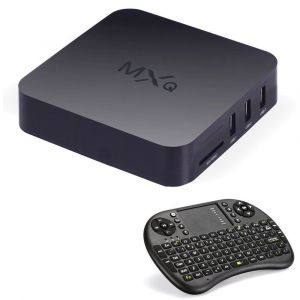 MXQ Quad Core Android 4.4 Smart Mini PC TV Box + Air Mouse ClavierRécepteur télé - Neuf