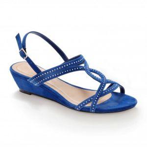 Sandales sequins compensées