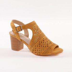 Sandales dessus ajouré bouts ouverts