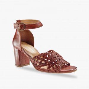 Sandales tressées à talon
