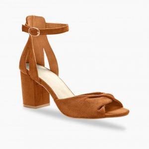 Sandales à talon - caramel