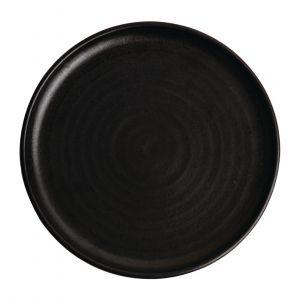 Assiettes plates noir mat Olympia Canvas 26,5 cm  - Lot de 6