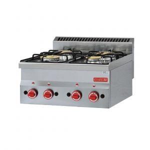 Dessus 4 feux vifs gaz à poser Gastro M 60/60PCG