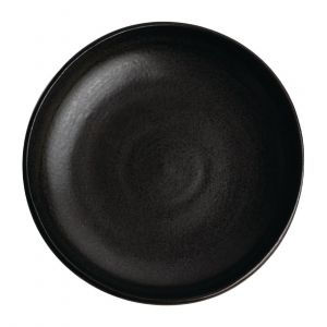 Assiettes creuses calottes noir mat Olympia Canvas 23 cm  - Lot de 6
