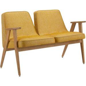 Banquette en tissu Loft jaune moutarde Oak 02 366 - 366 Concept