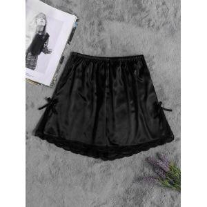 Shorts de pyjamas en dentelle noire - us 4|us 6|us 8