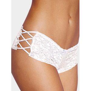 Culotte sexy avec détails de côté en dentelle blanche - s|l|xl