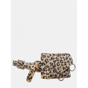 Sac à bandoulière à motif léopard pour femme Multicolor