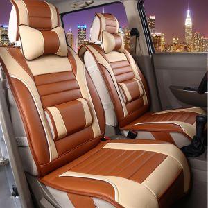 Housse de siège d'auto de 5/7 sièges en cuir PU Multicolor