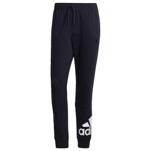 adidas Pantalon Essentials French Terry Tapered Cuff Logo Bleu - Bleu - Taille X-Small