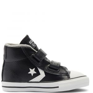 Toddlers' Varsity Turf Easy-On Star Player Mid Black/Mason/Vintage White 21 (1 a 3 ans et demi)