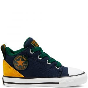 Toddlers' Twill Twist Chuck Taylor All Star Ollie Mid Obsidian/Saffron Yellow 18 (1 a 3 ans et demi)