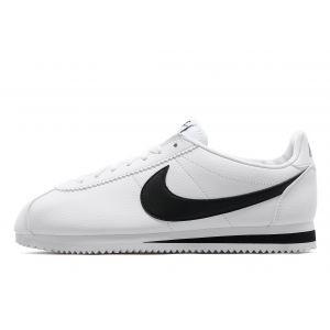 Nike Cuir Cortez - Blanc, Blanc
