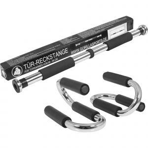 Barre de traction fixe de porte + push up stand bar - poignées d'appui pour les pompes