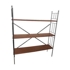 Étagère à 3 plateaux en bois et acier