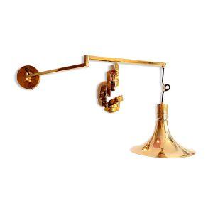 Applique articulée en laiton doré par Franco Albini