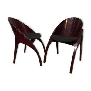 Paire de chaises vintage de Pascal Mourgue 1980