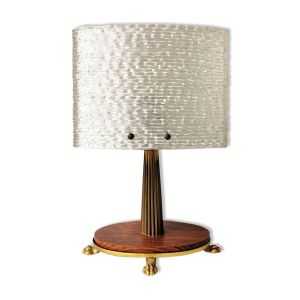 Lampe de table vintage avec capot en plastique années 70
