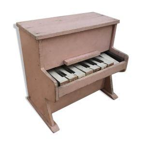 Piano ancien enfant bois rose 8 touches