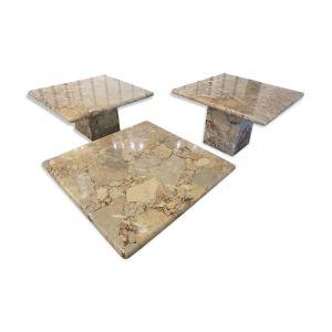 Set de trois tables en marbre 1960