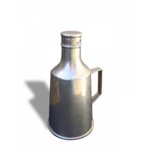 Bouteille en aluminium avec bouchon saupoudreur, originale et vintage